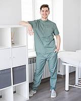 Медицинский мужской костюм Бостон оливковый, фото 1