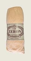 Простынь на резинке Персиковая 180*200 хлопок для кровати двухспальная, Турция