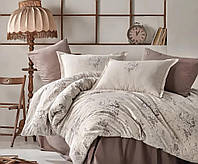 Комплект постельное белье с розами евро ранфорс 200х220 Турция (TM Aran Clasy) ESTE V1