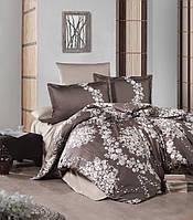 Хлопковый двуспальный комплект постельного белья из сатина 200х220 (ТМ ARAN CLASY) Melrose v1, Турция