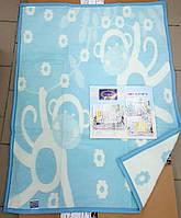 Детский плед в кроватку голубое 90*120 (TM Zeron)  , Турция