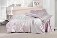 Двуспальное постельное белье из сатина 200х220 (ТМ ARAN CLASY) Ruche V1, Турция
