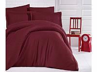 Комплект постельного белья из сатина с двумя пододеяльниками (ТМ ARAN CLASY) Bordo, Турция