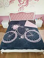 Теплое Плед-покрывало двуспальное на кровать Хлопковое 200х220 (TM Zeron)  Турция