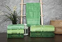 Турецкие бамбуковые полотенца махровые банные 70х140 (1шт) 550г/м2 (TM Zeron)  Agac  Bamboo, Турция