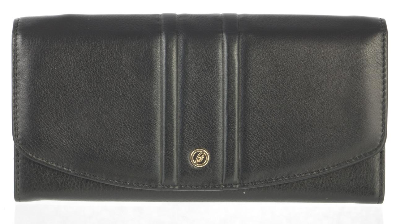 Элитный женский кошелек с мягкой кожи высокого качественный Brioni art. BR-3731 A черный