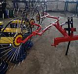 Грабли ворошилки Солнышко на 4 колеса спица ∅6 мм на трактор Грабарка, гребка, сінограбарка, фото 6