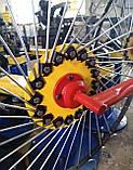 Грабли ворошилки Солнышко на 4 колеса спица ∅6 мм на трактор Грабарка, гребка, сінограбарка, фото 4