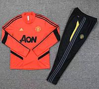 Спортивный тренировочный костюм Манчестер Юнайтед красный 19/20, фото 1