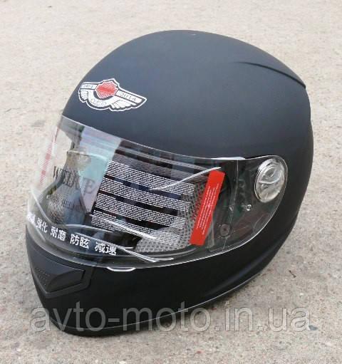 Шлем чёрный матовый