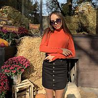 Женский гольф с пуговицами на рукавах разнообразие модных расцветок а размерах S/M, L/XL