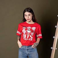 Жіноча футболка BTS New Noce 8108 червона