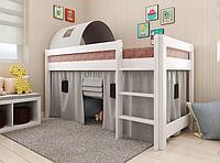 Детская кровать-чердак Адель белая сосна. Арбор.
