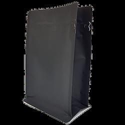 Пакет с плоским дном 130*255 дно (45+45) чёрный, боковой zip-замок
