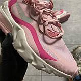 ВИДЕО ОБЗОР🔥 Кроссовки Nike Air Max 270 React Pint White Найк Аир Макс Реакт 270 🔥 Найк женские кроссовки 🔥, фото 9