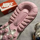ВИДЕО ОБЗОР🔥 Кроссовки Nike Air Max 270 React Pint White Найк Аир Макс Реакт 270 🔥 Найк женские кроссовки 🔥, фото 8