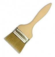 Кисть флейцевая натуральная щетина деревянная ручка 25-102мм в ассортименте