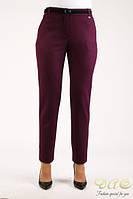 Узкие вишневые брюки DAS, фото 1