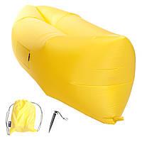Надувной шезлонг (лежак) Standart (желтый), фото 1