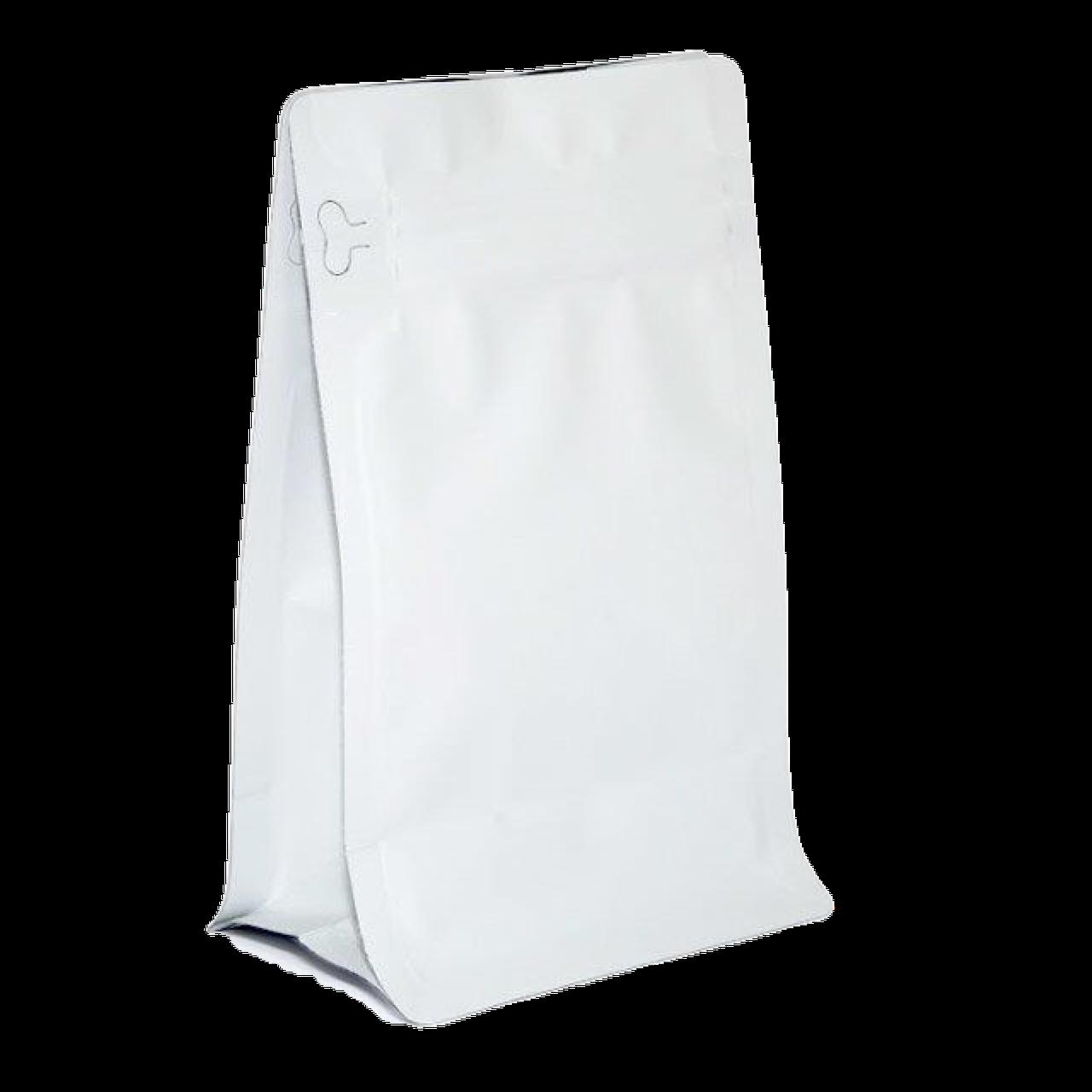 Пакет з плоским дном 130*255 дно (45+45) білий, бічній zip-замок