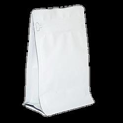 Пакет с плоским дном 130*255 дно (45+45) белый, боковой zip-замок