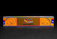 Благовония Natural Sandal (Сандал) от фирмы Satya (Сатья) - натуральные, индийские, пыльцевые, 15 г