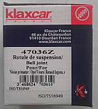 Опора шаровая несущий направляющий шарнир KLAXCAR FRANCE 47036z Renaut Trafic II 4005278 7701476576 7701478029, фото 4