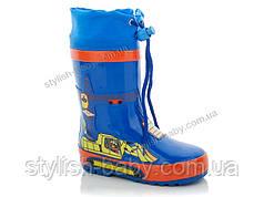 Обувь для непогоды оптом . Детские резиновые сапоги бренда Солнце - Kimbo-o для мальчиков (рр. с 23 по 29)