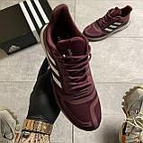 🔥 ВИДЕО ОБЗОР 🔥 Adidas Cloudfoam Mesh Burgundy Адидас 🔥 Адидас мужские кроссовки 🔥, фото 3