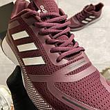 🔥 ВИДЕО ОБЗОР 🔥 Adidas Cloudfoam Mesh Burgundy Адидас 🔥 Адидас мужские кроссовки 🔥, фото 9
