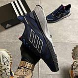 🔥 ВИДЕО ОБЗОР 🔥 Adidas Cloudfoam Mesh Blue Адидас 🔥 Адидас мужские кроссовки 🔥, фото 5