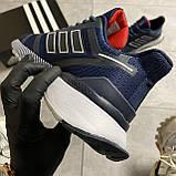 🔥 ВИДЕО ОБЗОР 🔥 Adidas Cloudfoam Mesh Blue Адидас 🔥 Адидас мужские кроссовки 🔥, фото 3