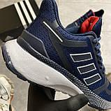 🔥 ВИДЕО ОБЗОР 🔥 Adidas Cloudfoam Mesh Blue Адидас 🔥 Адидас мужские кроссовки 🔥, фото 8