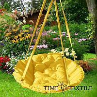 Подвесное кресло гамак для дома и сада 96х120 см желтого цвета