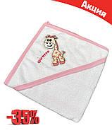Полотенце-уголок для купания с капюшоном для младенцев, размер 75*80, Ramel Kids