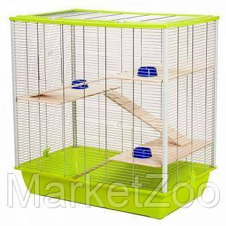 Клетка для шиншилл,белок дегу,крыс,белок летяг.Размер 80×80×50, фото 2