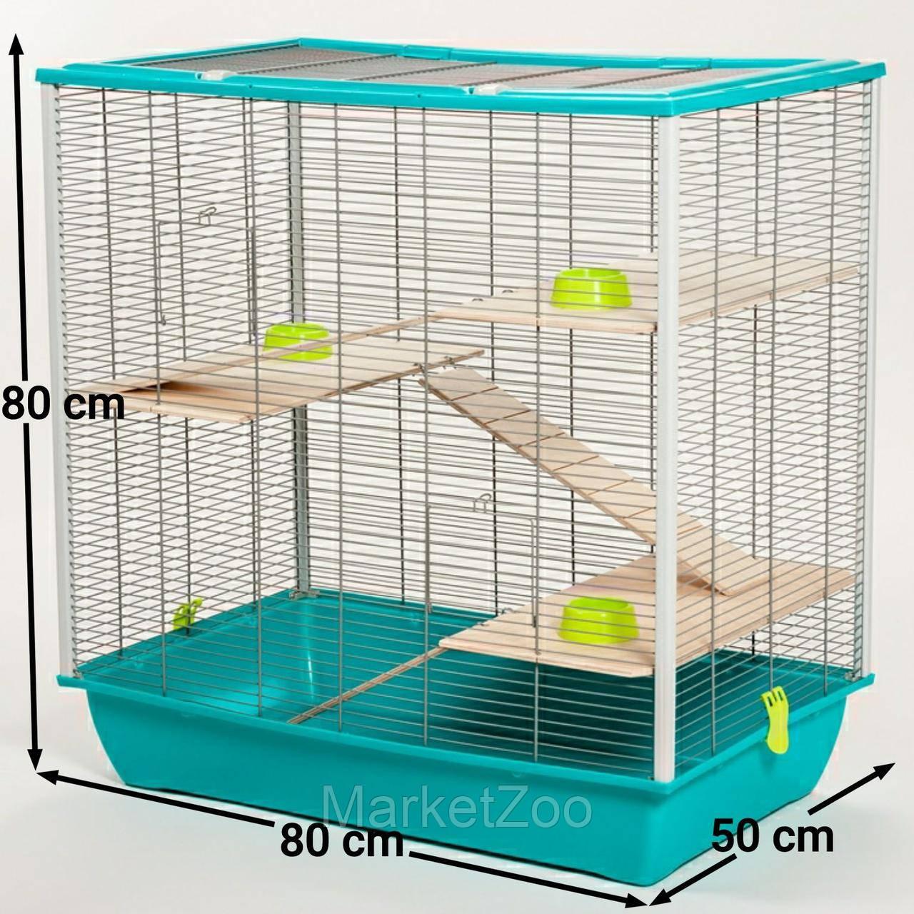 Клетка для шиншилл,белок дегу,крыс,белок летяг.Размер 80×80×50