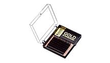"""Ресницы """"Mini pack"""" завиток С0.12 (6 рядов: 9 mm), упаковка Gold Standard"""