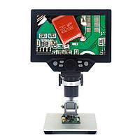 "Цифровой микроскоп 12Мп, 7"" LCD экран и подсветка GAOSUO G1200HD c увеличением до 1200X, запись на microSD"