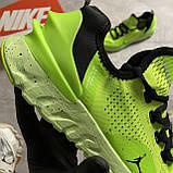 🔥 ВИДЕО ОБЗОР 🔥 Nike Air Jordan React Havoc VOLT Найк Эпик Рекат Джордан Зеленый 🔥 Найк мужские кроссовки, фото 7
