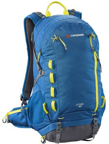 Качественный рюкзак 40 л. Caribee X-Trek 40 Sirius Blue/Hyper Yellow, 921806 синий