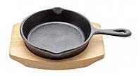 Сковородка из чугуна с доской для подачи - 10.5 см (Cosy&Trendy)