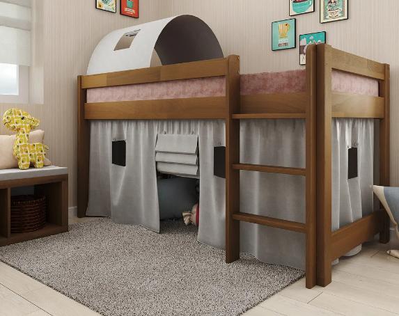 Дитяче ліжко-горище Адель горіх сосна. Арбор.