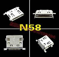Разъем Micro USB N58 для  LG 12P