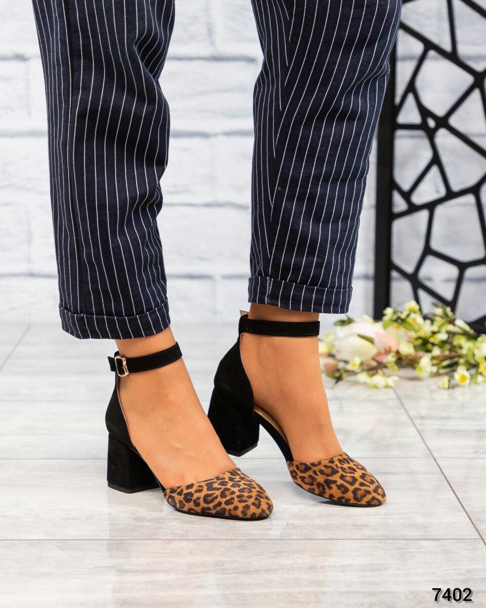 Женские Туфли открытые замша/кожа с тиснением. Размер 39