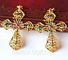 Корона з хрестами сережки набір Зара в стилі Dolce&Gabbana Тіара Вікторія модна, фото 7