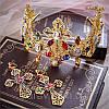 Корона з хрестами сережки набір Зара в стилі Dolce&Gabbana Тіара Вікторія модна, фото 6