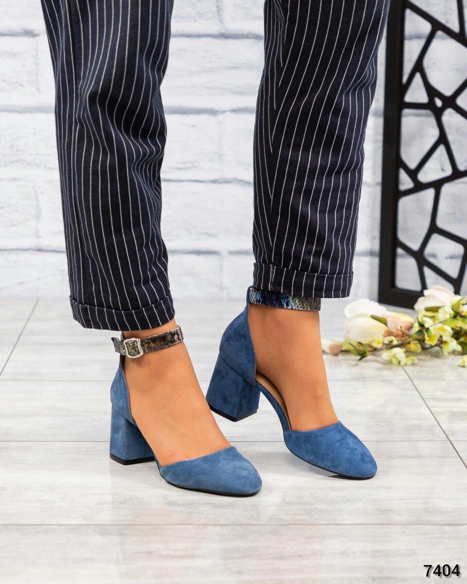 Женские Туфли открытые замша/кожа с тиснением. Размер 37