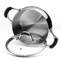 Кастрюля с крышкой Vinzer Stella 89067 из нержавеющей стали (2.6 л) | набор посуды Винзер | кастрюли, посуда, фото 1