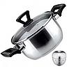 Кастрюля с крышкой + таймер Vinzer 89088 (2.4 л) нерж. сталь | набор посуды Винзер | кастрюли, посуда
